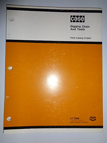 Case Trencher Digging Chain & Teeth Parts Catalog Book Manual H15651