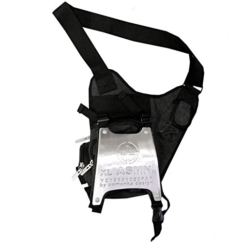 Lucyfire Black Cotton Man Fashion Shoulder Bag Black TrwTA8q