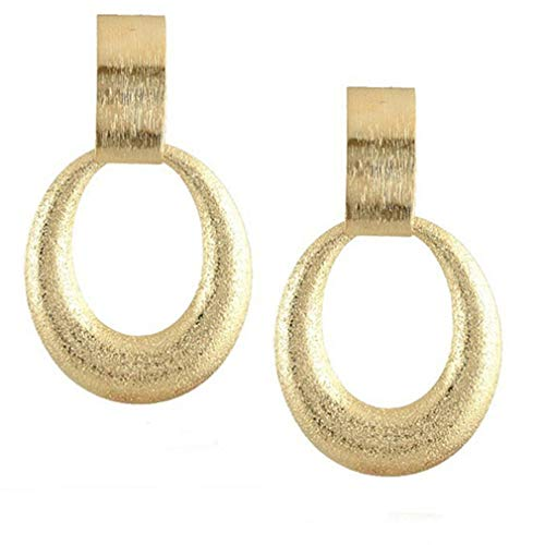 NIKOLay Disc Lightweight Earrings Teardrop Circle Violin Square Piece Long Exaggerated Polished Hoop Metal Earrings,7.24.5cm