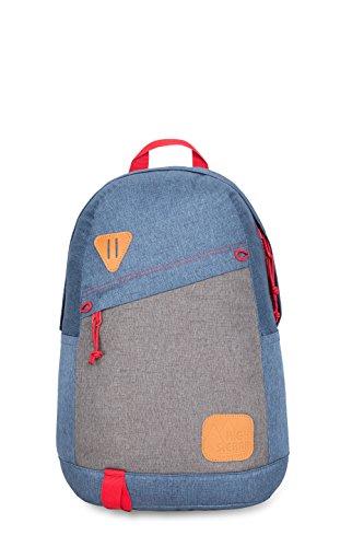 (High Sierra Tear Drop Backpack, Dusty Blue/Slate/Crimson)