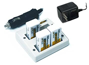 PowerEx Stealth Two Hour 4 Bank 9.6V Charger w/3-9.6V Batteries