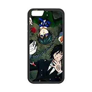 Durable Rubber Cases iPhone 6 Plus 5.5 Inch Black Cell phone Case Xfkdb Black Butler Protection Cover