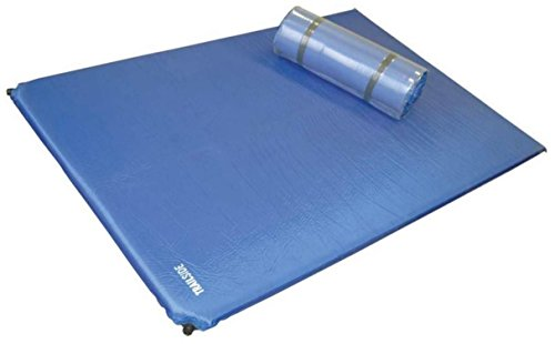 Trailside TrailRest Double-Wide Self-Inflating Mattress, 72x48x1.2-Inch/Regular
