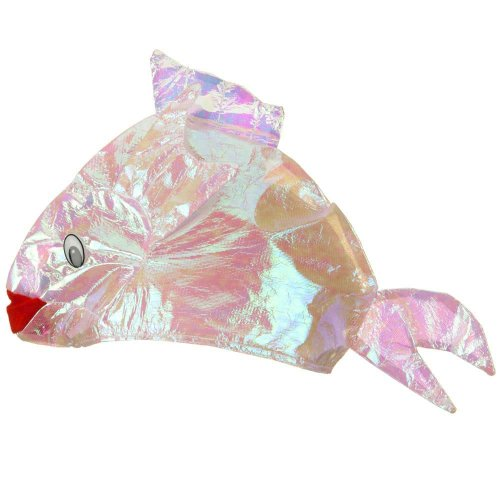 Iridescent Fish Hat - Light Pink