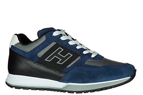 Hogan Zapatillas De Deporte En Piel Para Hombre H321 H Blu