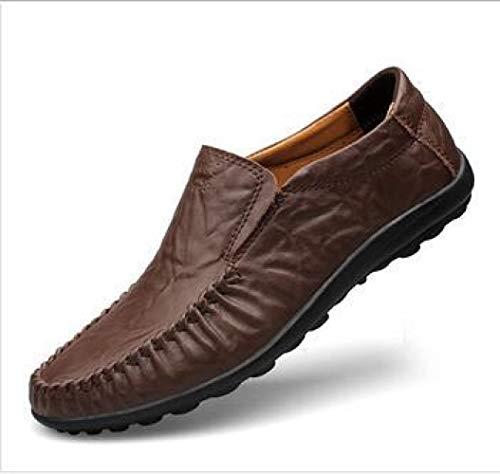Moda Peas Men Genuine Leather Men Casual Shoes Brown2