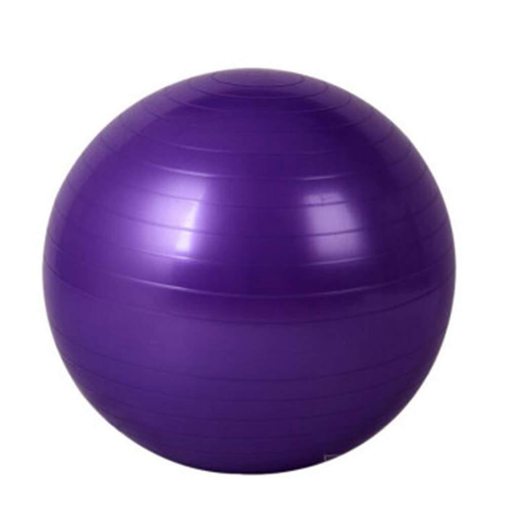 Violet THOR-BEI Balle d'exercice – Balle de Yoga Super épaisse antidérapante Anti-Explosion pour Femme Enceinte – pour la Maison ou Le Bureau de Gym – 140 Ceinture perforatrice, Plastique, Rose, 65 cm 85CM