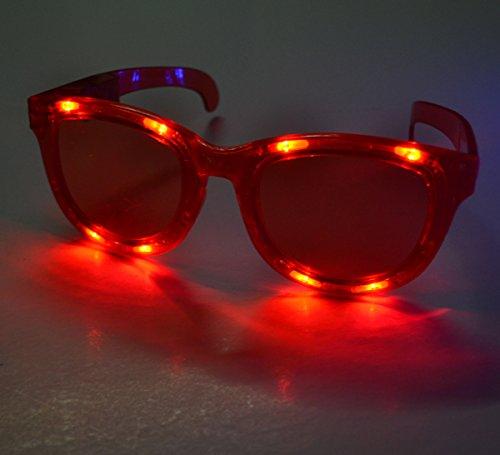 Huge JUMBO Light Up LED Glasses / Shades - Red