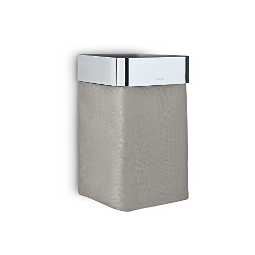 Towel Basket in Polished Taupe