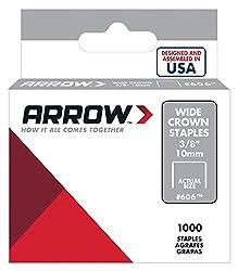 Arrow Fastener 606 Wide Crown Swingline Heavy Duty 38-inch Staples, 1,000-pack