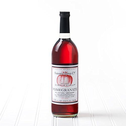 Sonoma Syrup Pomegranate Simple Syrup 25.4 oz by Sonoma Syrup by Sonoma Syrup Co.