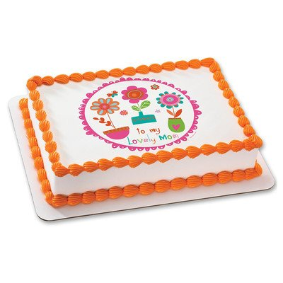 Mothers Day Edible Icing Image for 6 inch Round Cake
