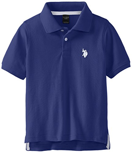 U.S. Polo Assn. Little Boys' Classic Polo Shirt, Marina, 5/6 -