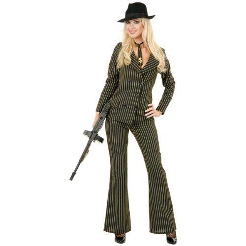 [Zoot Suit Costume - Plus Size 3X - Chest Size 60] (20s Mafia Costume)