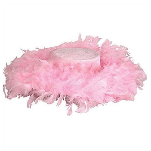 Pink Fluffy Feather Hat (Pink Pimp Costumes)