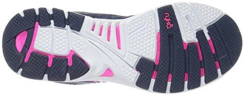 Ryka Women's Deliberate Cross-Trainer Shoe, Parent, US Navy/Pink