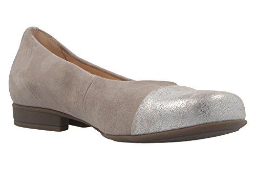 GABOR comfort - Damen Ballerinas - Grau Schuhe in Übergrößen