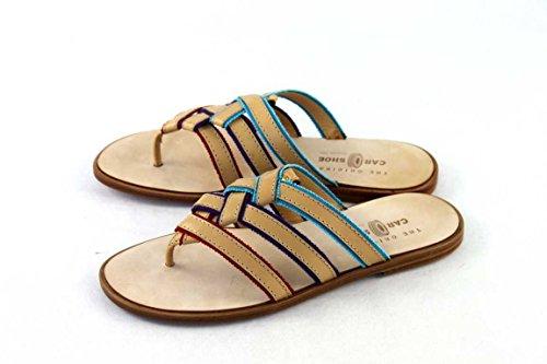 Prada 20A - Sandalias de vestir para mujer beige - Beige-multicolor