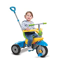 This 3-in-1 Trike features patented Touch Steering technology for easier control. It's designed for babies from 10-36 months to help them learn the basics of mobility. This trike maneuvers like a stroller with the lightest touch. The unique n...