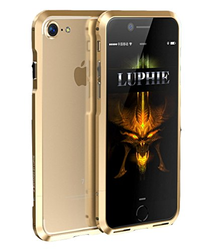 online store 60ddb f27e5 Luphie Aviation Luxury Metal Side Frame Bumper Case Cover For Apple iPhone  7 - Gold