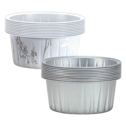 Hanna K. Signature 15000 Round Aluminum Baking Pans, 2 1/2', Silver 2 1/2