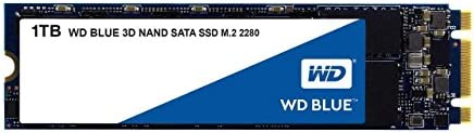 Western Digital 1TB WD Blue three-D NAND Internal PC SSD - SATA III 6 Gb/s, M.2 2280, Up to 560 MB/s - WDS100T2B0B