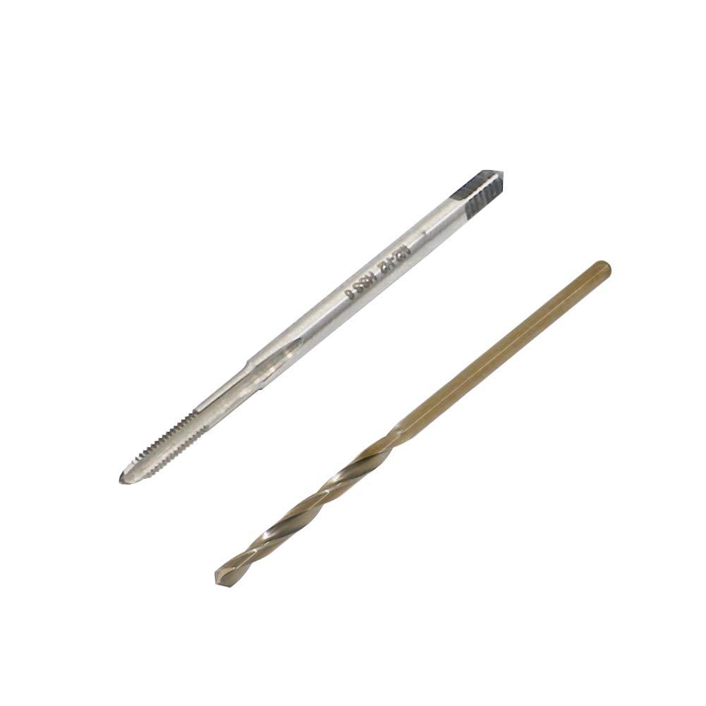1.6mm HSS Drill Bit Kit High Speed Steel Metric Thread Tap M2 x 0.4