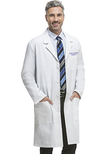 Embroidered Cherokee 40 Inch Easy Access Unisex Labcoat (3XL, 1446) White