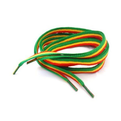 Rasta Shoelaces - Red Gold & Green