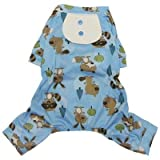 Forest Friends Lightweight Pajamas with Attached Bib for Small Dogs – M, My Pet Supplies