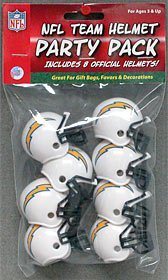 NFL Team Mini Helmet Party Pack ''San Deigo Chargers'' - Great for Gift Bags, Favors and Decorations!