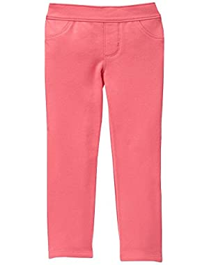 Baby Girls' Dark Pink Fleece Pant