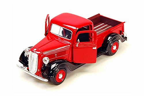 1937 Ford Pick Up Truck, Red With Black - Showcasts 73233 - 1/24 Scale Diecast Model Car by Motor Max from Motor Max