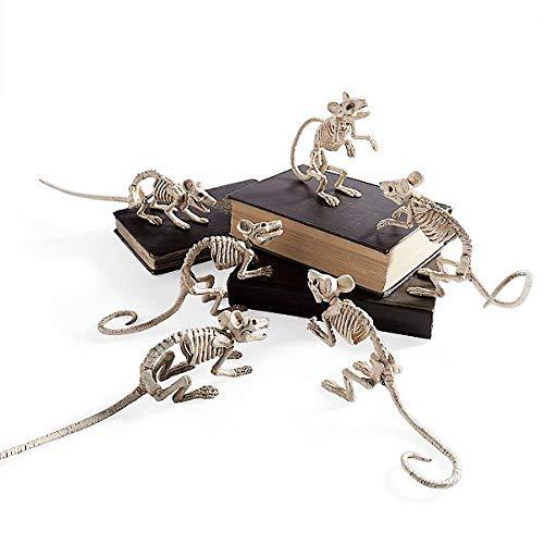 Grandinroad Skeleton Mice Set of Four