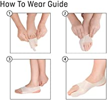 Bunion Sleeve The Ultra Thin Hallux Valgus Corrector & Protector Toe Straightener Active Relief & Support for Bunions EXERCISE FRIENDLY |