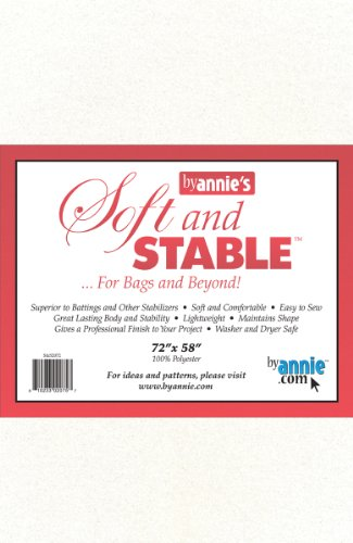 - Annie S&S2072 Soft and Stable Fabric, 72 by 58-Inch, White