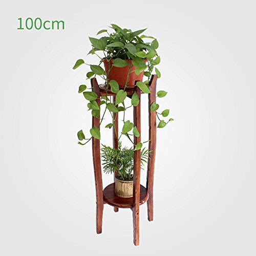 Living room solid wood flower/solid wood spider, green rose showy/indoor multilayer bonsai frame/flowerpot shelves/solid wood flower stand-B by PYEVZCADQF
