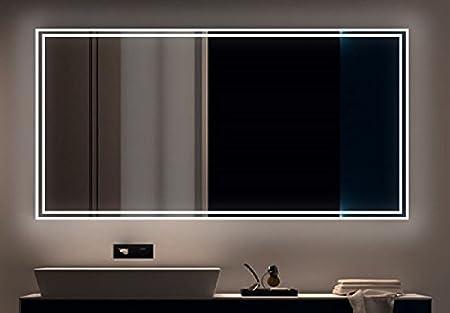 Badezimmerspiegel Hohe.Led Badezimmerspiegel Badspiegel Wandspiegel Lichtspiegel 020 Breite 120 X Hohe 80 Cm Amazon De Kuche Haushalt
