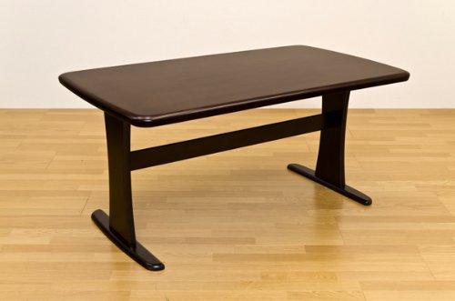 ダイニングテーブル デザイナーズテーブル 重厚な造りのダイニングテーブル!150cm幅 ダークブラウン B00W74RM1M