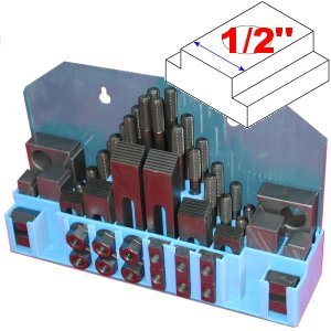 """Anytime Tools 58 pc 1/2"""" Slot 3/8"""" Stud HOLD DOWN CLAMP CLAMPING SET KIT for MILL"""