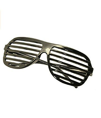 Blind Stick Costume (Black Lensless Shutter Blinds Style Party Glass Frame Cool Fashion Eyewear)
