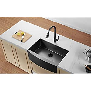 41lBdNq-1qL._SS300_ 75+ Beautiful Stainless Steel Farmhouse Sinks For 2020