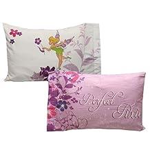Tinkerbell Pillowcase Set 2pc Powder Purple Bed Accessories