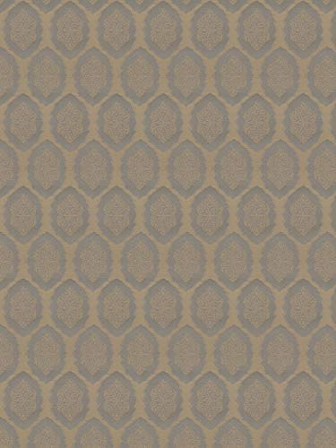 (Pewter Grey Taupe Tan Medallion Damask Wovens Crypton Upholstery decorative Upholstery Fabric by the yard )