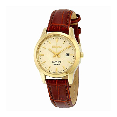 Brown Leather Ladies Watch SXDG66 (Seiko Ladies Watch Champagne Dial)