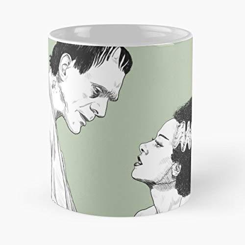 Frankenstein Frankensteins Monster The Bride Of - 11 Oz Coffee Mugs Unique Ceramic Novelty Cup, The Best Gift For Halloween.]()