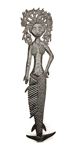 "Large Mermaid, Wall Hanging, Flipped Tale Mermaid Metal Wall Art, Sea life Home Decor, Novelty Gift 7"" X 32"""