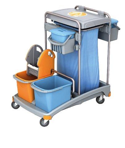 Carro de limpieza Splast con soporte para bolsas de basura ...