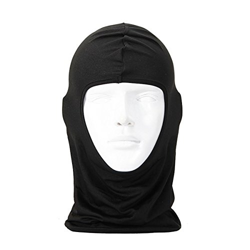 Breathable Anti-UV Motorcycle Balaclava Full Face Mask Multifunctional Thin Cycling Bicycle Riding Mask Beanie Hat Cap Scarf Hood Police Swat Ski Bike Windproof Mask Black