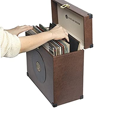 MK365 - Leather LP Storage Box with Handle